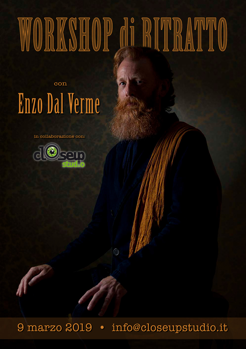 Workshop di Ritratto Fotografico con Enzo Dal Verme - 9 Marzo 2019